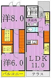GRANDIR KASHIWATANAKA E棟[106号室]の間取り