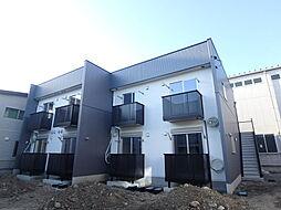 栃木県宇都宮市城東1丁目の賃貸アパートの外観