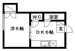 一福荘[1号室]の間取り