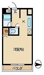 西部観光ビル[406号室]の間取り
