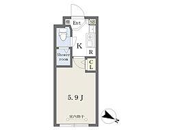 京王線 幡ヶ谷駅 徒歩4分の賃貸マンション 3階1Kの間取り