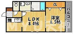 福岡県福岡市中央区舞鶴1丁目の賃貸マンションの間取り