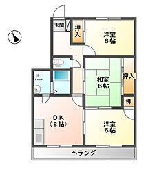 ベルエポックOGAWA[3階]の間取り