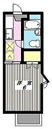 ベルフォーレ鶴川[2階]の間取り