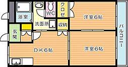 エクシード菊入II[1階]の間取り