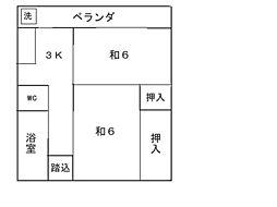 磯松マンション[405号室]の間取り