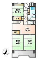ビレッジハウス笠寺タワー[1階]の間取り