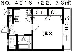 Icube松屋町(アイキューブ松屋町)[606号室号室]の間取り