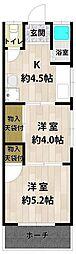 第五ヤマトコーポ1階Fの間取り画像