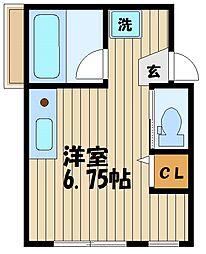 東京都府中市本町2丁目の賃貸マンションの間取り