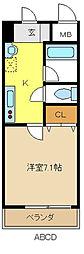 愛知県名古屋市西区天塚町1の賃貸マンションの間取り