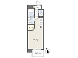 熊本市電B系統 杉塘駅 徒歩3分の賃貸マンション 12階ワンルームの間取り