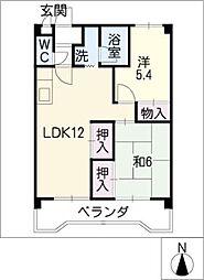 レジデンス大和[2階]の間取り