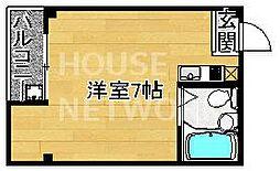 京都府京都市中京区西ノ京勧学院町の賃貸マンションの間取り