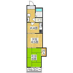 京都ノーザンフラット[206号室]の間取り