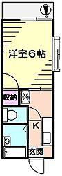 グレイスコート南太田[1階]の間取り