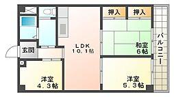 サムティ南多聞台[2階]の間取り