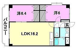 ユーミーKAWAKUBO[401 号室号室]の間取り