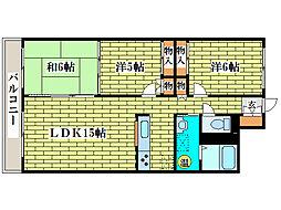 プリムラK3[1階]の間取り