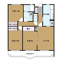 サウセ茅ヶ崎南[1階]の間取り