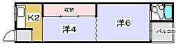 田口サンハイツ[202号室]の間取り