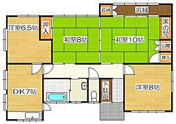 梅ヶ丘アパート[1階号室]の間取り