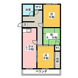 マンション武峰[1階]の間取り