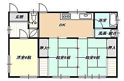 [一戸建] 福岡県北九州市小倉北区赤坂2丁目 の賃貸【/】の間取り