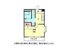愛知県一宮市冨田字上本郷の賃貸アパートの間取り