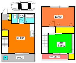 [テラスハウス] 神奈川県川崎市宮前区水沢2丁目 の賃貸【/】の間取り