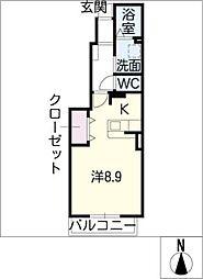 ウッドベル[1階]の間取り