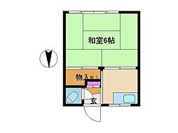 東京都世田谷区尾山台3丁目の賃貸アパートの間取り