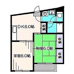 東京都西東京市泉町1丁目の賃貸マンションの間取り