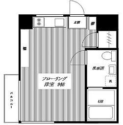 東京都新宿区富久町の賃貸マンションの間取り