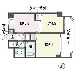 アヴァンセ平尾[2階]の間取り
