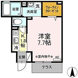 東京都江戸川区中葛西1丁目の賃貸アパートの間取り