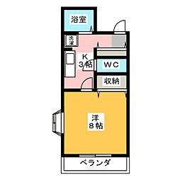 高島屋マンションII[2階]の間取り