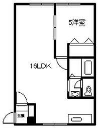 当麻サニープレイス 1階1LDKの間取り