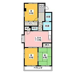 シャンボール近藤II[2階]の間取り