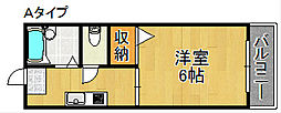 ピースフルA棟B棟[2階]の間取り