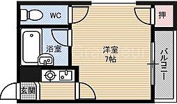 アーバン都島[2階]の間取り