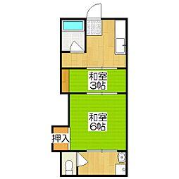 中井荘(向島)[2号室]の間取り
