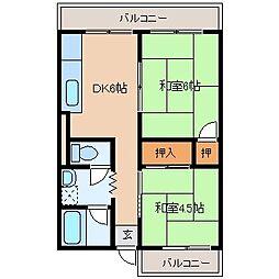 福岡県北九州市門司区東馬寄の賃貸マンションの間取り