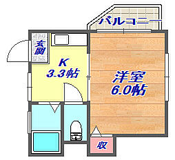 兵庫県神戸市灘区上野通4丁目の賃貸マンションの間取り