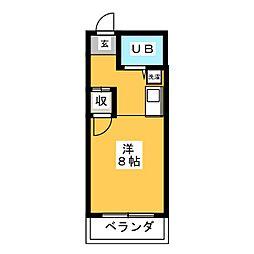 ピア白羽根[2階]の間取り