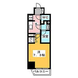 ザ・パークハビオ飯田橋プレイス 5階1Kの間取り