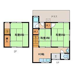 [テラスハウス] 奈良県奈良市三条桧町 の賃貸【奈良県 / 奈良市】の間取り