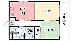 グランネイ甲子園[201号室]の間取り