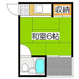 ハイツ柴田[203号室]の間取り