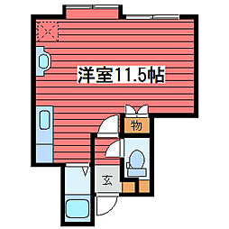 パーク18ビル[2階]の間取り
